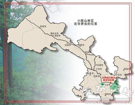 小陇山国家森林公园 地图