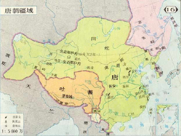 (图)唐朝疆域图