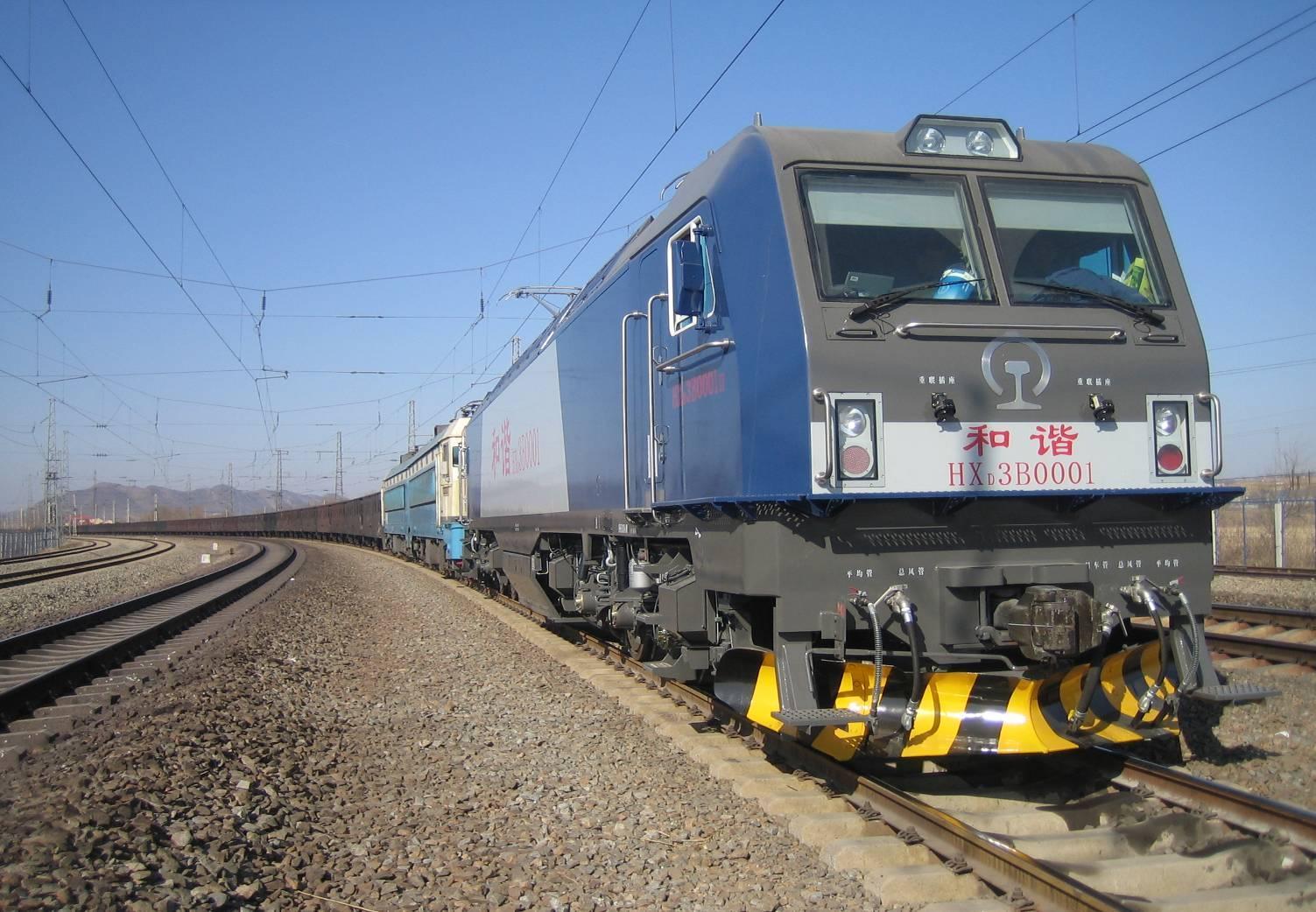 hxd3b型电力机车是大功率交流电传动