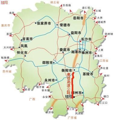 常宁至浙江舟山群岛路线图