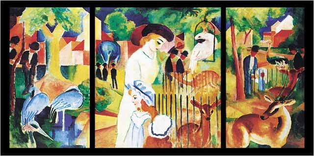 《动物园》简介   【名称】奥古斯特·麦克《动物园》   【类别】油画