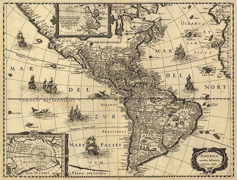 (图)十七世纪美洲地图
