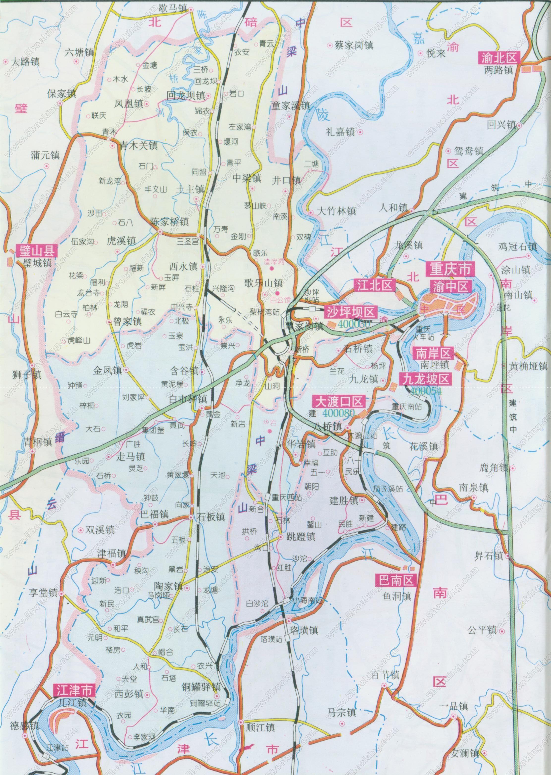 重庆主城地图_重庆主城区地图全图