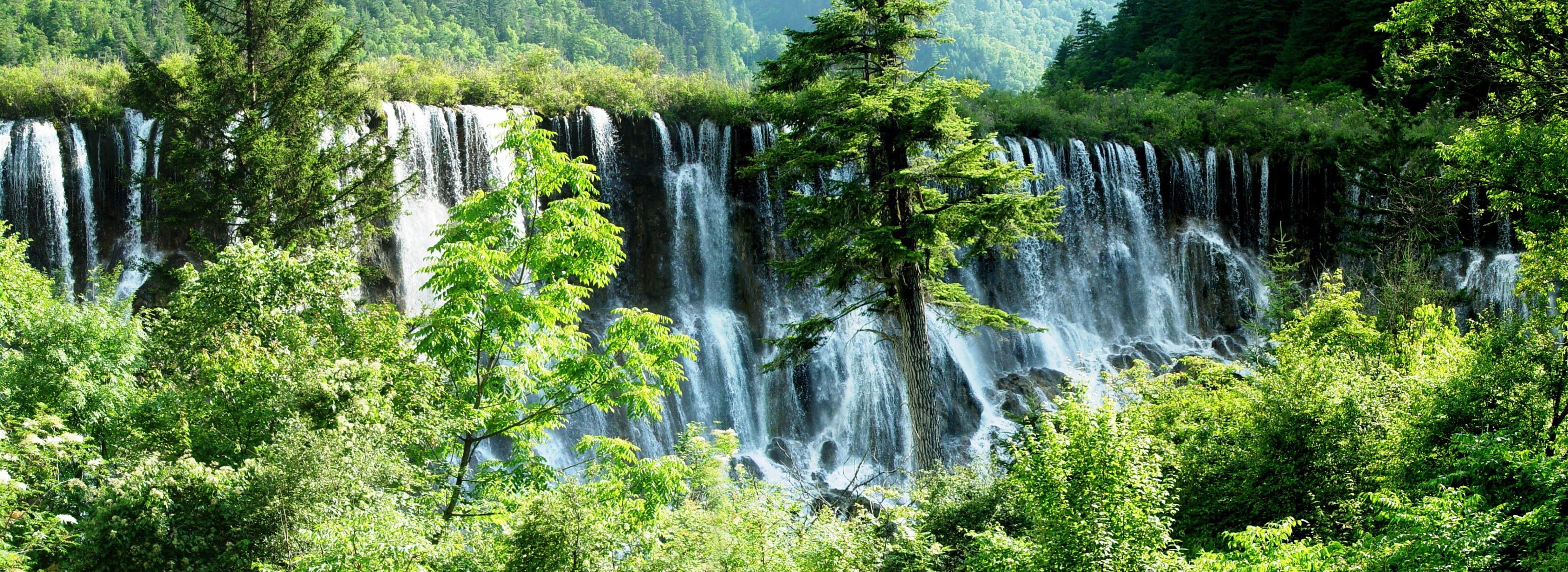 九寨沟风景区打印样张图片