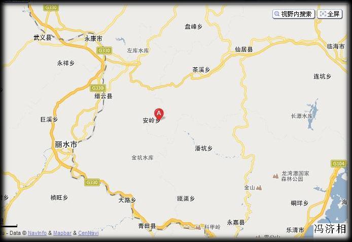 浙江省台州市仙居县安岭乡的地理位置