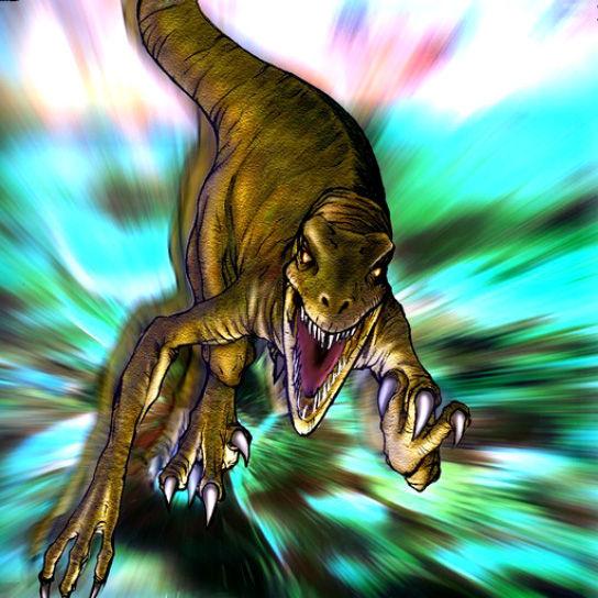 发现于1971年的化石标本搏斗中的恐龙,保存了迅猛龙和原角龙搏斗的情形,这提供了迅猛龙是活跃的捕食者以及其捕食方式的直接证据。当这个标本被发现时,过去一度有假设认为这两只恐龙是被淹死的。但因为这个标本是在古代沙丘沉积物所发现的,所以的看法是这两只动物是被掩埋在沙地中的,原因可能是沙丘倒塌,或者是沙尘暴。从两只动物的姿态显示,掩埋过程应该非常快速。原角龙的前肢与后肢都遗失了,可能是被其他食腐动物吞食了。   驰龙科的后肢第二趾上明显的镰刀状趾爪,传统上认为是用于切开猎物身体与挖去内脏的武器。在